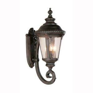 Trans Globe Lighting Breeze Way 4-Light Outdoor Rust Coach Lantern Sconce