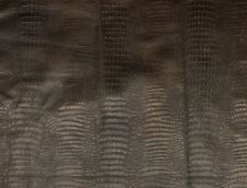 EMBOSSED ALLIGATOR LEATHER HIDE CHOCOLATE BROWN CROCODILE COWHIDES SAMPLE