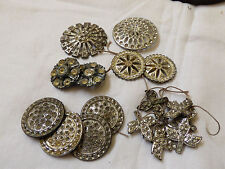 Antique VTG Pot Metal Mix lot of 16 Buttons for  Repair or crafts