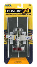 Tuskegee P-51 Mustang USAAF RW190 RUNWAY 24 Die-cast Plane and Runway Section.
