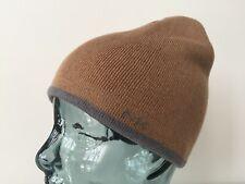 New Men's Michael Kors Camel and Grey Reversible Beanie Hat