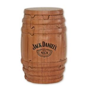 Jack Daniels Whiskey Wooden Puzzle Brown