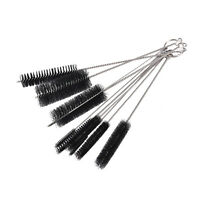 10 Nylon Stainless Steel Cleaners Cleaning Brushes for Tobacco Pipe Airbrush WB