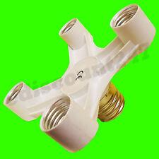 CE CERTIFIED E40 to 4 E27 Convertor Adaptor Splitter Photography Studio Lamp UK.