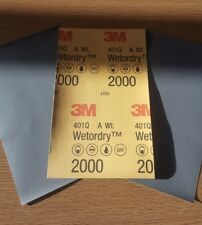 3M - WET AND DRY SANDPAPER MICRO FINE  P2000 x 3 Sheets