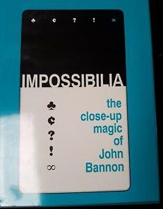 Magic Book - Impossibilia The Close Up Card Magic of John Bannon RARE