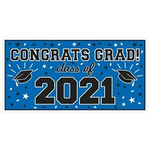 Large CLASS OF 2021 Graduation Party BANNER Grad Decoration INDOOR OUTDOOR