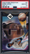 2000 Fleer Tradition Ten-4 10-4 #7 Derek Jeter Yankees PSA 10 pop 11 *694449