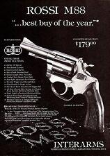 1984 ROSSI 88 M88 .38 Special Revolver AD Collectible Handgun Gun Advertising