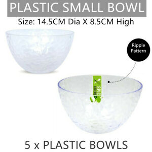 5 x Plastic Small Bowl 14.5CM Salad Noodle Serving Soup Rice Dinner Dessert Food