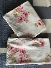 Bnwt Laura Ashley Couture Pink Rose Bath & Hand Towels Rrp £38