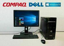 """PC de Bureau Compaq Presario avec Ecran 22"""" LED HD DELL"""