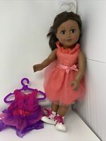 "2013 Cititoy My Life 18"" Doll Black African American Brown Eyes"