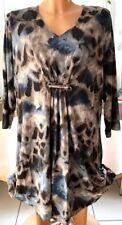 GERRY WEBER Damen Shirt TUNIKA Schlange Panthermuster Bluse LUXUS Gr. 48 XXL 3XL