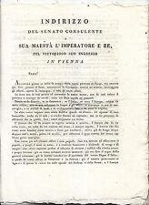 J842-NAPOLEONE A VIENNE 1809 LETTERA SENATO DEL REGNO D'ITALIA E RISPOSTA