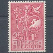 Belgique  1953   N°928 Europe l' Enfance et la Jeunesse timbre rouge