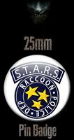 RACOON CITY POLICE S.T.A.R.S. STARS LOGO 25mm BADGE Resident Evil Biohazard RE