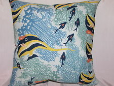 "2 DECORATIVE THROW PILLOW CUSHION COVERS 17""+17"" INDOOR OUTDOOR"