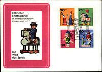 Ersttagsbrief 1971 FDC Stempel Bonn Erstausgabe Wohlfahrtsmarken Satz 4 Werte