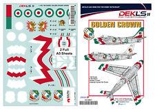 1/48 F-86 Sabre - Golden Crown Aerobatic Team Iranian Air Force Decal DEKL's II