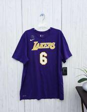 Xxl Men'S Nike Los Angeles Lakers Basketball T-Shirt Purple Yellow Clarkson