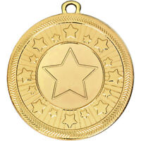 50 mm VF stars Medal in 3 Colours with Free Engraving up to 30 Letters + Ribbon