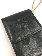 GIANNI VERSACE VINTAGE '90s LEATHER EMBOSSED MEDUSA CHAINED COIN WALLET PURSE