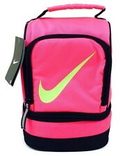 Nike lunch box tote school bag for girls 2 compartments Pink insulated dome