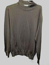 Gran Sasso Lana Cashmere Seta mock turtleneck sweater Slate Grey Italy 52 US 42