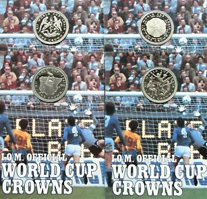 1982 – Isle of Man Spain World Cup Four Coin Set (Diamond Finish) with COA