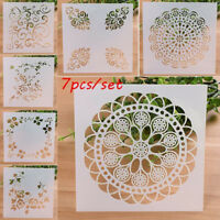 7PCS Craft Embossing Template Wall Painting Layering Stencils Scrapbooking HS88