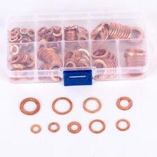 Kupferringe Kupfer Ring Dichtringe Set 200 tlg. Unterlegscheiben Dichtung Öl