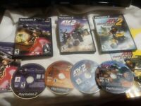 4 GAME PS2 ATV LOT:OFFROAD FURY 1 AND 2, QUAD POWER RACING 2, AND POWER DRONE
