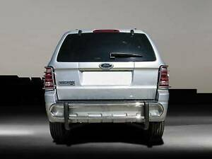 Black Horse Fits 08-12 Escape Tribute Mariner STAINLESS Rear Bumper Double tube