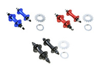 Front & Rear Alloy Fixie Bike Flip Flop Hubs - Sealed Bearings - Choose colour