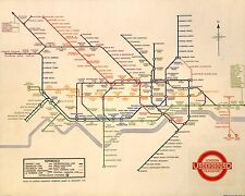 LONDON UNDERGROUND TUBE MAP - 1931  - GREAT TALKING POINT - LOOKS GREAT FRAMED
