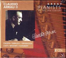 Claudio ARRAU 3: GREAT PIANISTS OF THE 20TH CENTURY 2CD Chopin Debussy Granados