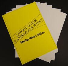 50 A4 Sheets Address Labels Laser & Inkjet 2 Per Sheet 100 Labels In Total