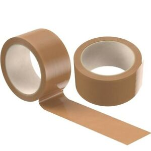 BROWN STRONG TAPE PACKING PARCEL PACKAGING 48MM X 50M BOX SEALING 2 4 6 12 24 36