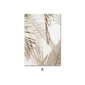 Sand Hand Canvas Art Print Beach Palm Leaf Landscape Poster Modern Home Decor