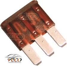 MICRO 3 BLADE 3 PINS TERMINALS FUSE 7.5 AMP 32 VOLT X2 BROWN FUSES 193383