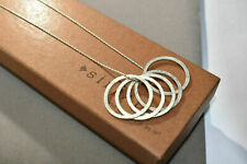SILPADA RARE HTF 5 Textured RING Pendants N1534 NECKLACE 17in