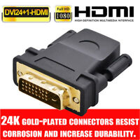 DVI-D(24+1)25 PIN MALE TO HDMI Female Adapter Connector Converter Gold Plated