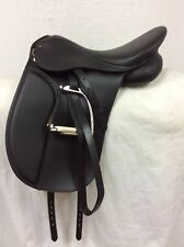 "HDR Synthetic English Dressage Saddle 17.5"" Used Wide Tree"