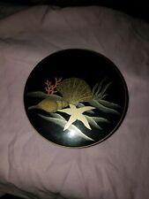 New listing Vintage Otagiri Seashell Coaster Set 5 Lacquer