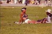 1970's GIRL Voyeur FOUND PHOTO Original PRETTY WOMAN Snapshot VINTAGE 04 22 Q