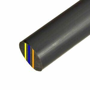 1 pcs Nylon Polyamide PA Plastic Round Rod Stick Black 30mm x 250mm #B-H