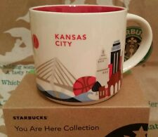 Starbucks coffee Mug/taza vaso/kansas city you are here, nuevo m. sticker I. box!