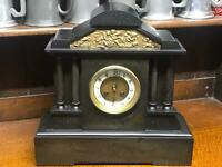 Antique A. MEARS & Co Slate ( XLARGE)Marble French Movement Mantel Clock [6687 ]