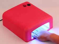 Hot 36W Art Acrylic Nail UV Lamp Curing Light Gel Polish Dryer + Timer + 4 Bulbs